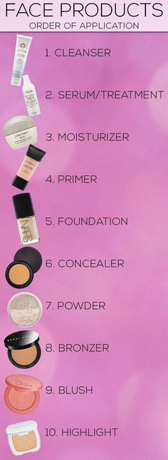 Order of Application - make the most of your makeup regimen! #cosmetics