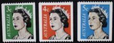 Queen Elizabeth II stamps, 1966, Australia, SG ref: 384, 385 & 386c, MNH