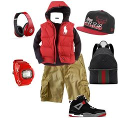 Boy swag . My son would love the shoes minus the hat :)