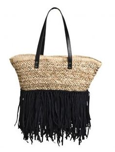 how adorable is this fringe straw tote?! you could totally do a DIY project and add some fringe on to one of our straw totes like the one here... http://www.southmoonunder.com/San-Diego-Hat-Co.-Seagrass-Market-Bag/154104,default,pd.html?dwvar_154104_color=NATU=24=1503