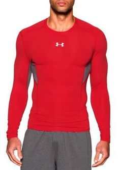 Under Armour Red HeatGear174 Coolswitch Compression Long Sleeve Shirt