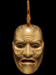 per prior pinner: Noh mask by Ichiyu TERAI, Japan Noh Theatre, Theater Masks, Japanese Noh Mask, Arte Tribal, Art Japonais, Masks Art, Asian Art, Traditional, Head Pieces