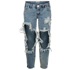 One Teaspoon Freebirds Distressed Skinny Jeans ($190) ❤ liked on Polyvore featuring jeans, denim skinny jeans, destroyed skinny jeans, destructed jeans, torn jeans and ripped jeans