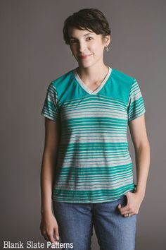 Juniper Jersey - Women's T-Shirt Sewing Pattern by Blank Slate Patterns