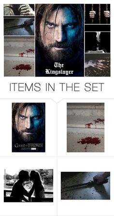 """""""Jaime Lannister {The Kingslayer}"""" by jessiemimi96 ❤ liked on Polyvore featuring art, GameOfThrones, got, jaimelannister, kingslayer and nikolaicosterwaldau"""