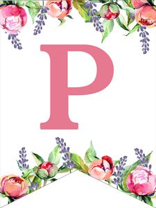 Make a personalized flower banner message fora birthday party, baby shower, or wedding. Free Printable Alphabet Letters, Alphabet Letters Design, Flower Alphabet, Monogram Alphabet, Happy Birthday Banner Printable, Birthday Letters, 4th Birthday, Birthday Ideas, Birthday Parties