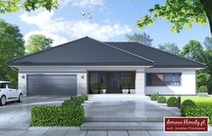 ✩ Check out this list of creative present ideas for tennis players and lovers Modern Bungalow House, Bungalow House Plans, Modern House Design, Village House Design, Village Houses, Home Building Design, Building A House, 4 Bedroom House Designs, Casa Top