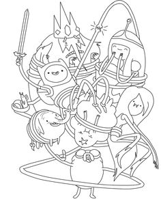 Funny Adventure Time Coloring Pages - Adventure Time cartoon coloring pages