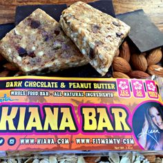 100% Natural, Whole Foods Protein Bars made with ingredients found in your pantry, REAL FOOD. No chemicals. No preservatives. No junk. For Picky Moms who want the best for thei #fitfam  Available at kianabars.kiana.com  Dark Chocolate & Peanut Butter.