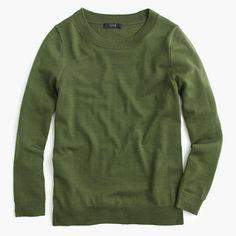 The sweater you'll wear with almost everything. It's soft, flattering and layers well—so you can totally justify buying several. <ul><li>Semifited.</li><li>Hits at hip.</li><li>Merino wool.</li><li>Bracelet sleeves.</li><li>Rib trim at neck, cuffs and hem.</li><li>Dry clean.</li><li>Import.</li></ul>