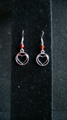 Burning Heart Earrings by PixieDustBeading on Etsy, $5.00