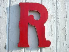 Wedding  Wooden Letter R 12 inch Initial Shabby by LettersofWood, $32.00