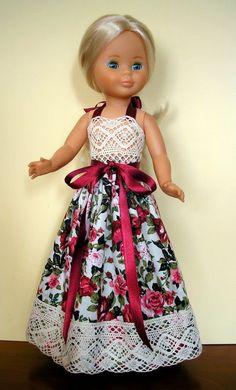 Baby Doll Clothes, Barbie Clothes, Vestidos Nancy, Doll Fancy Dress, Bb Reborn, Childrens Dolls, Nancy Doll, Wellie Wishers Dolls, American Girl Crafts