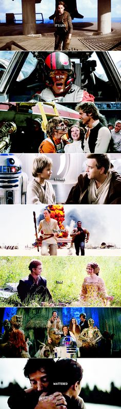 Those were the stories that stayed with you, that meant something, even if you were too small to understand why.  #starwars