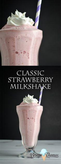 Classic Strawberry Milkshake - low carb - sugar free - Trim Healthy Mama friendly - THM:S - low glycemic - gluten free - egg free - nut free option