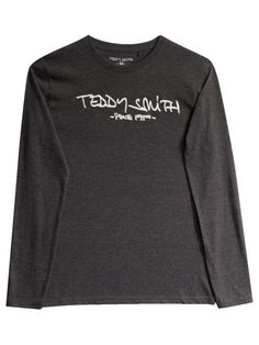 eb2d84d7923f TICLASS 3 ML - GRIS ANTHRACITE - homme - TEDDY SMITH - TEE SHIRT T-
