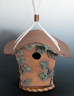 hand built ceramic birdhouses | Birdhouse Handbuilt Ceramic with rediron and by PrairieFireClay, $85 ...