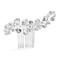 Bold Crystal Cluster Wedding or Pageant Comb