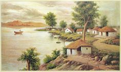 Village of West Bengal (Reprint on Paper - Unframed))