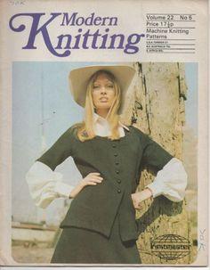 VINTAGE MODERN KNITTING MAGAZINE - MACHINE KNITTING - VOLUME 22 NO. 5 (1970S)