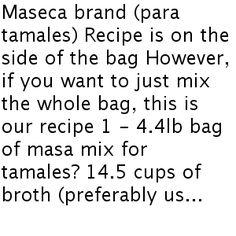 Tamale Masa