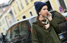 GORRO + COLLARES + MILITARY JACK - TOMMY TON