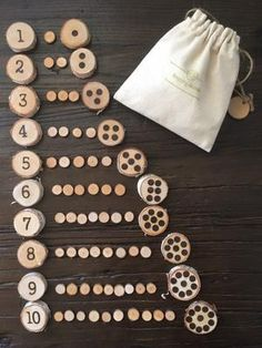 Woodburned Numbers 1 to 10 with Corresponding Dots (Subitizing Activit – Stepping Stones Shop Subitizing Activities, Preschool Activities, Numeracy, Forest School Activities, Nursery Activities, Montessori Homeschool, Wooden Numbers, Tree Slices, Etsy Christmas