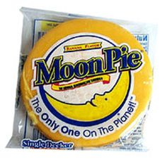 Moon pies....Want the best bananana pudding??? Chop about 4 of these Bad Boys.. into Quarter size pieces..add your Bananananas(meaning alot..)..... NILLA WAFERS..and puddin..Mix,..Have a couple of Margaritas,...just because.!...:::Wait overnight.:::.and you get.. YYUUUUMMMMMMMMM Only fix this for yourself..if not you'll be asked to bring it everytime.