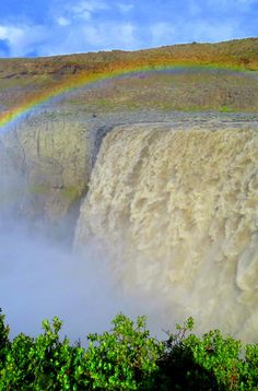 Dettifoss: The largest, most powerful waterfall in Europe, Dettifoss will blow you away with its sheer volume and size. Ripping through a glacial river and plummeting into an enormous gorge, this is Iceland's version of the Grand Canyon.