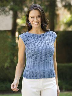 Knitting - Holiday & Seasonal Patterns - Summer Patterns - Simple Lace Top