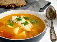 the orange soup with fish / sopa de naranja con pescado (sopa cachorreña)