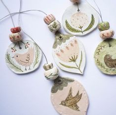 I've finished this batch of Christmas ornaments - they are all hand painted . - Mariya Yord - Ich Folge - I've finished this batch of Christmas ornaments – they are all hand painted … – Mariya Yord - Christmas Makes, Noel Christmas, Christmas Projects, All Things Christmas, Holiday Crafts, Xmas, Diy Clay, Clay Crafts, Diy And Crafts