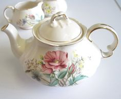 Vintage Heatmaster China Teapot Tea for One by TheWhistlingMan