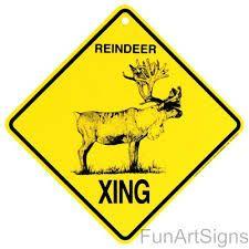 Image result for reindeer crossing sign