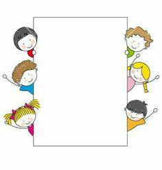 Simple Kids Border Clipart Kids Frame Vector by Sbego On Vectorstock Drawing For Kids, Art For Kids, Crafts For Kids, Cartoon Kids, Cute Cartoon, School Frame, Borders And Frames, Stick Figures, Border Design