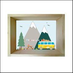 "Image of Window Scene ""Camping Mountain"" (IVA INCL.) antes 36.50€"