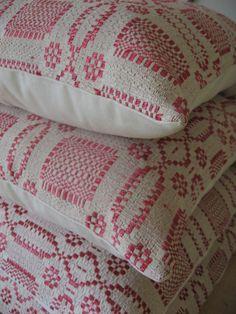 Pillows made from handmade blankets