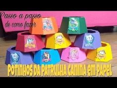Pow, Color Plus, Paw Patrol Birthday, Party In A Box, Paper Art, Birthday Parties, Gugu, Aurora, Paper Pot