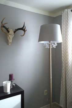 finished chandelier floor lamp, Sypsie Designs featured on Remodelaholic