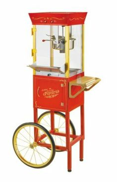 Amazon.com: Nostalgia Electrics CCP-510 Vintage Collection 53-Inch Popcorn Cart: Kitchen & Dining