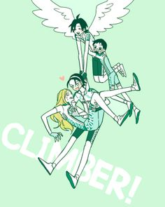 YowaPeda ~~ Adorable fanart of our climbers. Toudou cradling Maki-chan that way is too sweet for words!