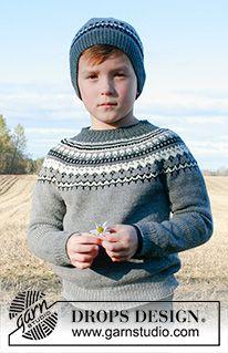 Children - Free knitting patterns and crochet patterns by DROPS Design Baby Knitting Patterns, Baby Sweater Knitting Pattern, Knit Mittens, Knitting For Kids, Free Knitting, Knitting Projects, Knitted Hats, Crochet Patterns, Drops Design