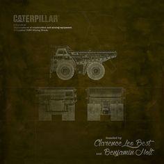 Caterpillar #work #blueprint #CAT #Caterpillar #art