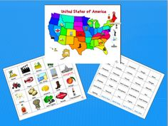 Mapping Freebie - USA - Learn the states & what some states are known for...
