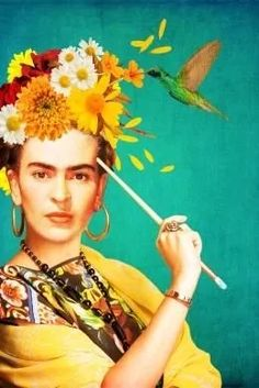 Frida Kahlo Calendar Page Frida Kahlo Artwork, Frida Kahlo Portraits, Kahlo Paintings, Frida Art, Diego Rivera, Frida E Diego, Art Fauvisme, Mint Green Decor, Atelier D Art