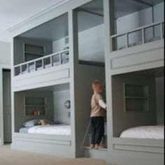 I might be an adult, but I totally want a bunkbed.  Just king sized.  I love this set-up with the stairs!