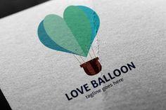 Love Balloon Logo by tkent on Balloon Logo, Love Balloon, Binder Templates, Sign Templates, Balloon Illustration, Name Card Design, Book Logo, Newsletter Design, Logo Color