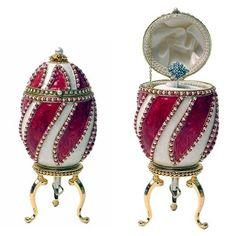 "Genuine Faberge Eggs | Faberge Style Genuine Goose Egg Music Box "" Romance"" - karams"