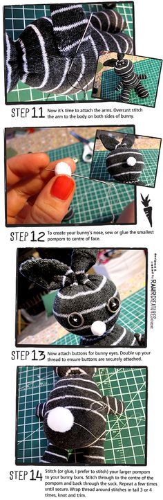 RAWR Creatures: HOW TO MAKE A SOCK BUNNY RABBIT