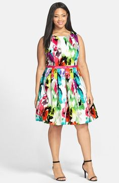 Eliza J Cutout Back Fit & Flare Dress (Plus Size) available at #Nordstrom